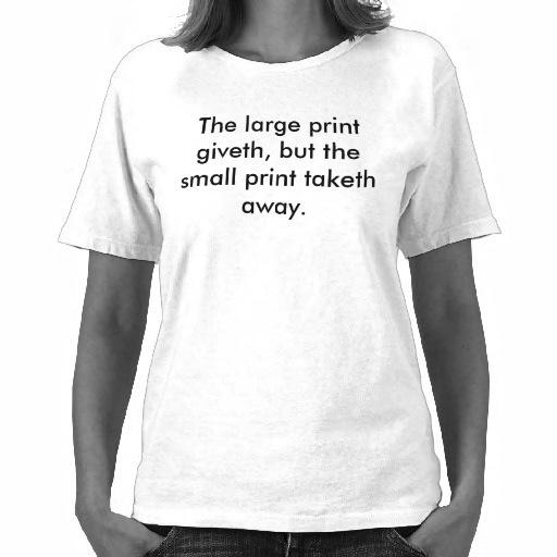 Dit T-shirt is te koop, net zoals je ziel!