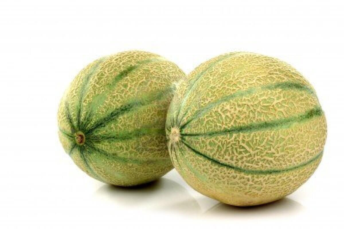 14997327-two-whole-cantaloupe-melons-on-a-white-background